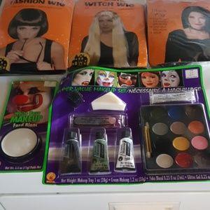Wigs & makeup set
